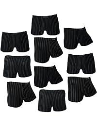 COOL24 - Pack de 4 ou 10 Boxers en microfibre à fines rayures - Homme