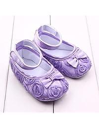 Tefamore Zapatos Bebé Embroma Los Recién Nacidos Del Paño Del Bowknot De Flor Rose Niñas Niño Pequeño