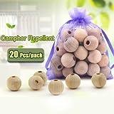 20pcs de madera de alcanfor repulsivo del par‡sito de insecto anti polilla Cedar granulares Bolas Armarios