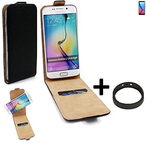 K-S-Trade TOP Set für ZTE Blade V9 360° Flipstyle Schutz Hülle Smartphone Tasche schwarz + TPU Bumper, Case Hülle Flip Cover für ZTE Blade V9