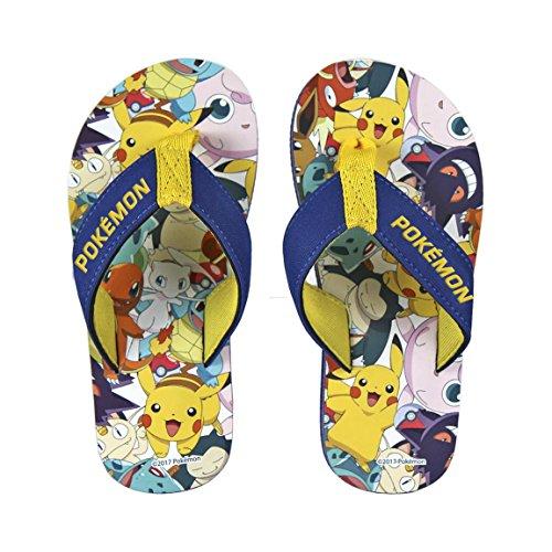 Pokemon 2300002743eu33-Pikachu & Friends Premium Flip Flops Sandalen EU Größe 33(UK Kind Größe 14-1) - Flip-flop-premium Collection