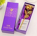 Bluelover Foglia Oro 24 K Giorno Regalo Oro Rosa San Valentino