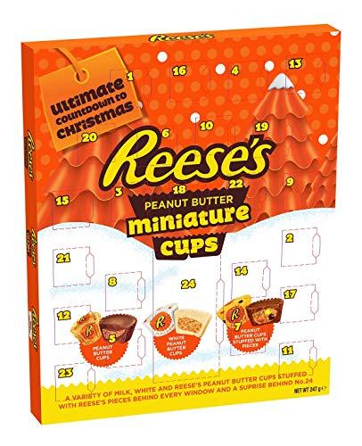 Reese\'s Adventskalender mit Kuchen aus Erdnussbutter