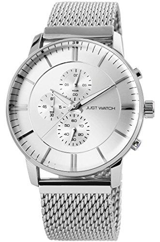 Just Watch Cronografo al quarzo orologio da polso cinturino in acciaio inox da uomo jw20019–001