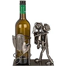 hibuy metal soporte para botellas botellas de vino, Pareja novia y novio, regalo de