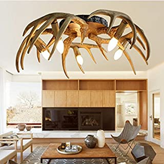& Perfect ** - Antlers Ceiling Lights American Retro Study Bedroom Lights Restaurant Ceiling Lights Creative Resin Aisle Terrace Lights Ceiling Lamps Antlers
