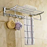 ESS-TWO Classic High Grade Stainless Steel Folding Towel Rack (24 Inches)