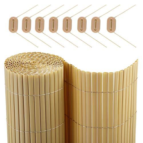 SONGMICS PVC Sichtschutzmatte 80 x 700 cm (Zusammengesetzt aus 2 Matten mit 1 x 300 cm + 1 x 400 cm Länge) GPF087M