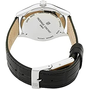 Frederique Constant Classic Index Automatic Steel Mens Watch E-Strap Date FC-303LGS5B6