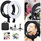 "Yidoblo 12"" Dimmable Bi-Color LED Light Ring FS-390II Kit With Mini Table Stand, Carrying Bag, Photo Holder For Portrait Selfie YouTube Photo Video Studio Photography Lighting"