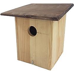 Nido proheim 30x 19x 19cm pájaro Casita de 100% FSC madera casa de pájaros para colgar con apertura para limpieza fácil