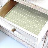 Papel de lunares para forrar cajones y estantes5 láminas.Fabricado en Suffolk, Inglaterra.