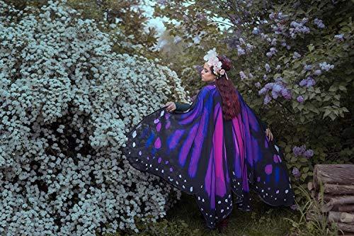 Schmetterlingsflügel monarch violett pink mantel kostüm erwachsener feenhafte (Violett Pixie Kostüm)