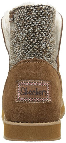Skechers Keepsakespeekaboo, Bottes mi-hauteur avec doublure chaude femme noir (BLK)