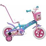 "Diseño de Aviones de Disney-Bicicleta infantil, color azul y naranja, 14 """