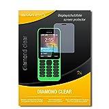 SWIDO 2 x Bildschirmschutzfolie Microsoft Nokia 215 Schutzfolie Folie DiamondClear unsichtbar