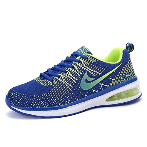 Men's Breathable Athletic Quality Outdoors Running Shoes blue