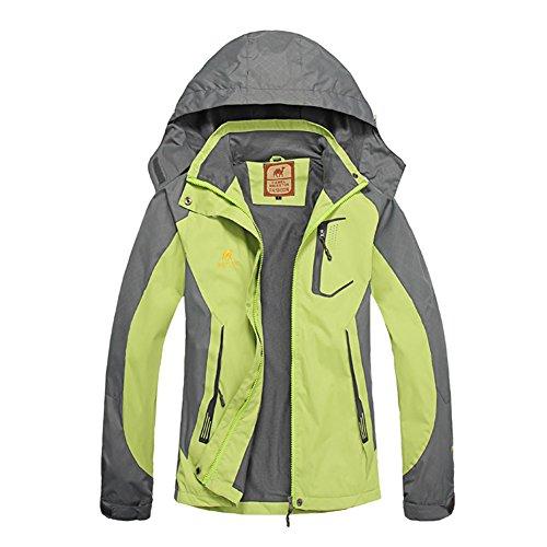 GITVIENAR Damen Jacken Mit Kapuze Outdoor Bergsteigen Kleidung dünne Wasserdichte Fahrkleidung Windjacke Bekleidung für Wind und Regen atmungsaktive Wasserdichte Kleidung