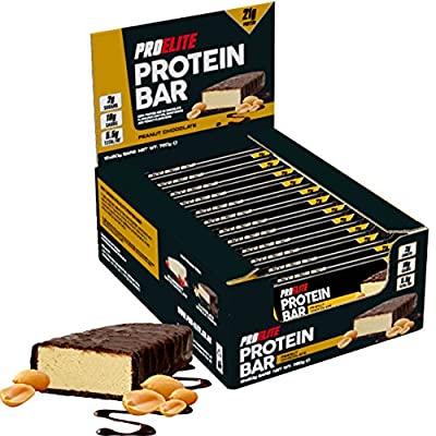 PROELITE Protein Bar 12 x 60g Bars ( High Pure Protein Nourishment Bar ) by PROELITE