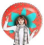Jasonwell Winter Erdbeere Aufblasbare Schlitten Luftmatratze Schnee - Großes strapazierfähiges Toboggans Rodel mit kostenloser Tragetasche Weihnachts Geburtstagsgeschenk für Kinder Erwachsene