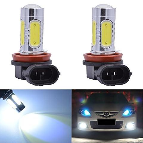 Raysen 2Pcs H11 Auto 7.5W COB Xenon Weiß LED Birnen Nebel treibendes Autolampe Glühbirne Einbaulampe Einbaustrahler Licht-Lampe hohe Leistung 12V