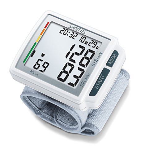 Sanitas SBC 41 Handgelenk-Blutdruckmessgerät, Blutdruck- und Pulsmessung am Handgelenk, XL-Display, Arrhythmie-Erkennung