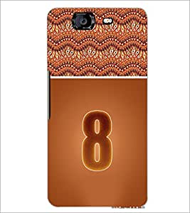 PrintDhaba Numerology Number 8 D-3640 Back Case Cover for MICROMAX A350 CANVAS KNIGHT (Multi-Coloured)