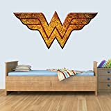GNG Wonder Woman Vinyl Smashed Wandkunst Aufkleber Aufkleber Schlafzimmer Jungen MäDC's Hammerhen 3D M