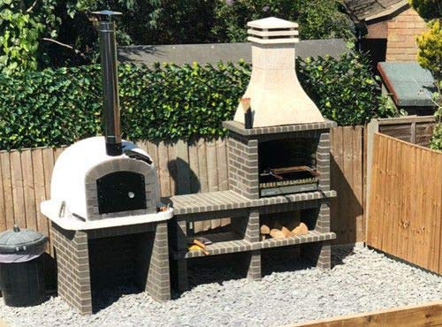 Woodfired Bbq And Oven Deal In Grey, 65cm x 40cm