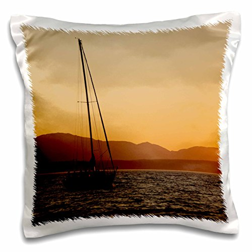 Danita Delimont - Matt Freedman - Boats - USA, Washington, Sailboat at sunset on the Puget Sound. - 16x16 inch Pillow Case (pc_191479_1)
