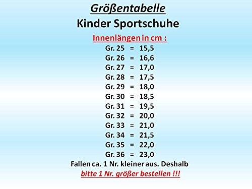 GIBRA® Kinder Sportschuhe, mit Klettverschluss, blau/neongrün, Gr. 25-30 blau/neongrün