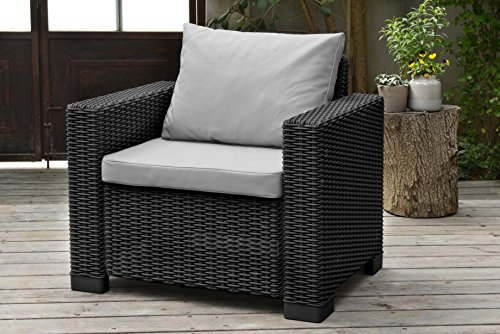Allibert By Keter California Armchair Duo Rattan Outdoor Garden Furniture  ...