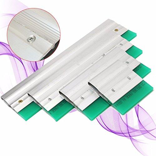 Rishil World Aluminium Screen Printing Squeegee Blade Ink Scraper Blade Tool 10/20/30/40cm