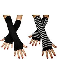 Immerschön fingerlose Armstulpen Feinstrick in verschiedenen Farben lang Pulswärmer Handwärmer Stulpen