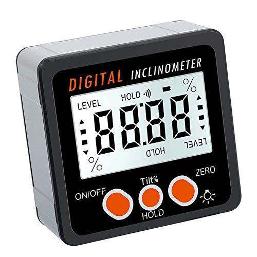 Topker 360 Grad-Winkel-Digital-Winkelmesser-Inklinationskompass Elektronische Bevel Box Winkelmesser Meter Messwerkzeug Magnetfuß