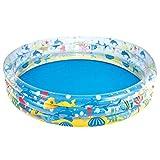 GCHOME Aufblasbare Badewanne Aufblasbare Badewannen Drei Ring Runder Pool Tragbare Badewannen