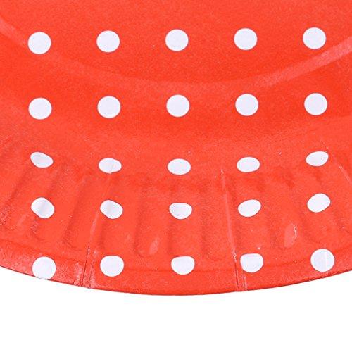 51nR7Ai63NL - yinew Pappteller 17,8cm Party Teller Langlebig Teller Pappteller 10PCS Party Teller für Geburtstag, Party, Hochzeit, Papier, rot, Siehe Produktbeschreibung