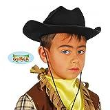fiestas Guirca gui13564–Feltro nero Cappello da cowboy, per bambini