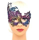 """(Mod.5) Masque vénitien multicolore en macramé Carnaval Halloween cadeau idée hommes femmes unisexe"""","""