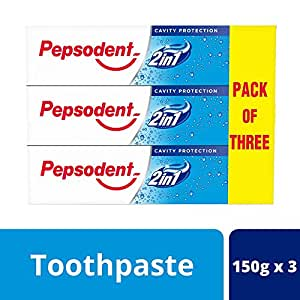 Pepsodent 2 in 1 Cavity Protection - 150 g (Pack of 3)