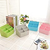 Ad Fresh Hollow Basket Remote Control Holder Makeup Cosmetic Case Desk,Bedroom,Bathroom,Office Table, Storage Organizer (Set Of 2)