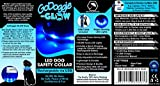 GoDoggie-GLOW - Improved Dog Visibility & Safety - USB Rechargeable LED Dog Safety Collar - 7 Colours & 5 Sizes - Ultra-Bright LED's - Connects to Devices - No Batteries - Great Fun - Your Dog will be more Visible & Safe - Blue Medium