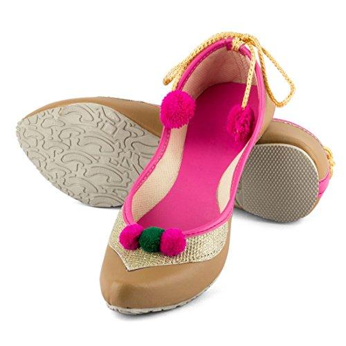 Tashi Women's Beige & Pink Artificial L...