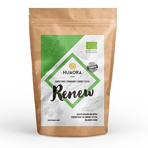 Huaora Renew - reducir el estrés, reactivar el organismo, reforzar el sistema inmunitario - Sin Gluten, Soya ni Lactosa (apto para Veganos) (250)
