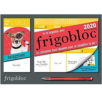 Mini Frigobloc hebdo 2020 spécial Enigmes (de janvier à décembre 2020): S'organiser n'a jamais été aussi simple !