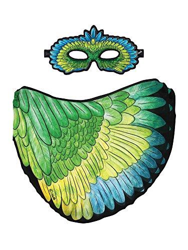 76Mask + Wings, Flügel + Maske, Green Parrot, Vogel Papagei Edelpapagei Eclectus roratus ()