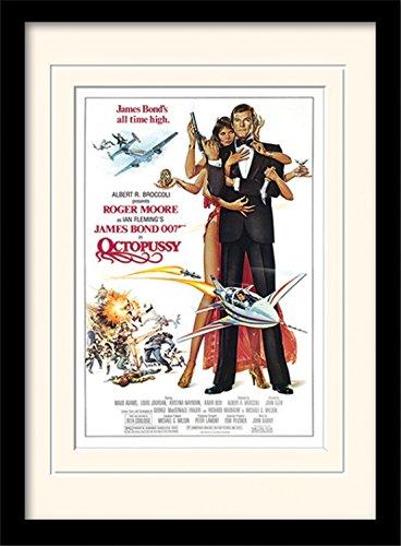 ond 007 - Octopussy One-Sheet Gerahmtes Poster Für Fans Und Sammler 40 x 30 cm ()