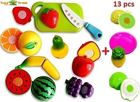 ToyTree (TM) Realistic Sliceable Fruits Cutting Play Toy (Set of 13 pcs)