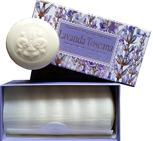 Lavendelseife, rund 6 St je 50g, handgemachte italienische Seife aus Fiorentino