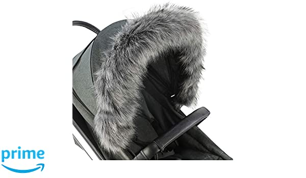 Pram Fur Hood Trim Attachment For Pushchair Compatible with Graco